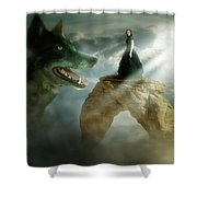 Meeting Of Souls  Shower Curtain