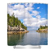 Meeting Of The Islands Shower Curtain
