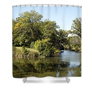Meeting Of Two Rivers Shower Curtain