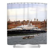 Mega Luxury Yacht The Carinthia Vll In Venice, Italy Shower Curtain