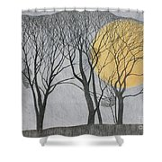 Megamoon Shower Curtain by Ann Brain