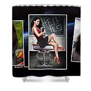 Megan Fox Shower Curtain
