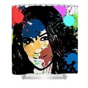 Meghan Markle Pop Art Shower Curtain