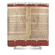 Meguilat Esther-esther Scroll The Whole Text Shower Curtain