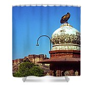 Mehrangarh Fort - Approach With Caution Shower Curtain