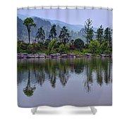 Meitan County Reflection - Guizhou, China Shower Curtain