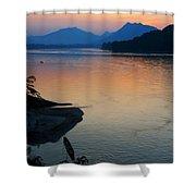Mekong River Sunset Shower Curtain