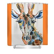 Melancholic Giraffe Shower Curtain