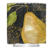 Melange French Yellow Pear Shower Curtain