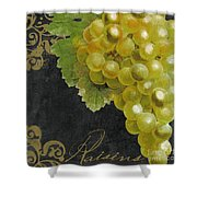 Melange Green Grapes Shower Curtain