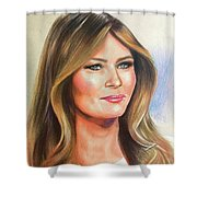 Melania Trump Shower Curtain
