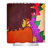 Melanin And Flowers Shower Curtain