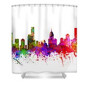 Melbourne Australia Cityscape 02 Shower Curtain