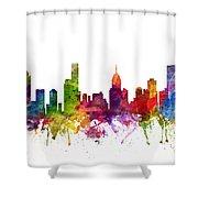 Melbourne Australia Cityscape 06 Shower Curtain
