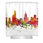 Melbourne Australia Cityscape 08 Shower Curtain