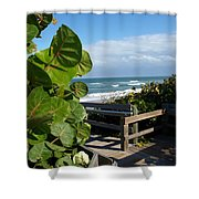 Melbourne Beach Florida Shower Curtain