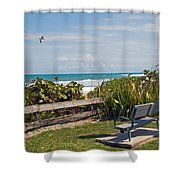 Melbourne Beach In Florida Usa Shower Curtain