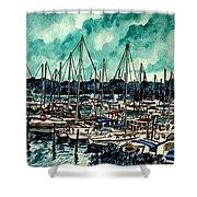 Melbourne Florida Sailing Marina Shower Curtain