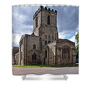 Melbourne Parish Church In Derbyshire Shower Curtain