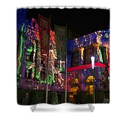 Melbourne Town Hall  With Christmas Light 1 Shower Curtain