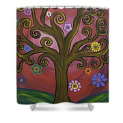 Melissa's Tree Shower Curtain