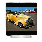 Mello Yellow Shower Curtain