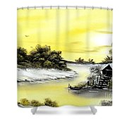 Mellow Yellow Sold Shower Curtain