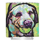 Mellow Yellow Lab Shower Curtain