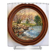 Melody Of Autumn. Shower Curtain