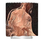 Melted Wax Model Shower Curtain