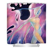 Melting Aura Shower Curtain