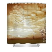 Melting Cold Shower Curtain