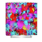 Melting Flowers Abstract  Shower Curtain