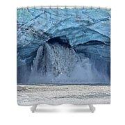 Melting Glacier Shower Curtain