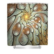 Melting Motions Shower Curtain