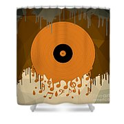 Melting Music Shower Curtain