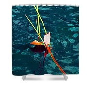 Melting Point Shower Curtain