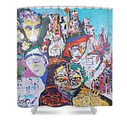 Melting Pot- Hyderabad Shower Curtain