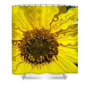 Melting Sunflower Shower Curtain