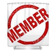 Member Ink Stanp Shower Curtain