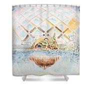 Meme Brain Shower Curtain