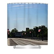 Memorial Avenue Bridge Roanoke Virginia Shower Curtain by Teresa Mucha