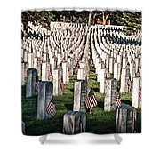 Memorial Day Shower Curtain by Barry C Donovan