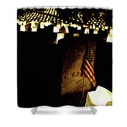 Memorial Day Luminary Shower Curtain