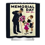Memorial Day Poster Wpa Shower Curtain