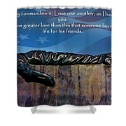 Memorial Day Remember Shower Curtain