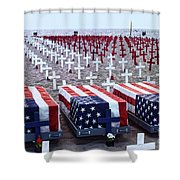 Memorial Day Remembrance At The Beach Shower Curtain