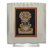 Memorial-pennsylvania Fractur And Cut-out Commemorating Jacob Bauer Shower Curtain