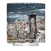Memorials Washed Away Shower Curtain
