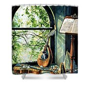 Memories And Music Shower Curtain